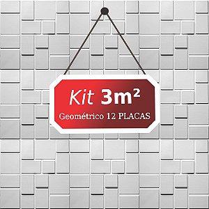 Kit 3m²  Revestimento 3D Geométrico