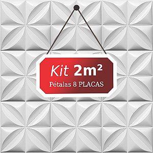 Kit 2m² Placas de Revestimento 3D Pétalas