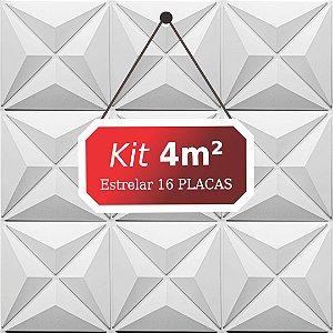 Kit 4m²  Revestimento 3D Estrelar