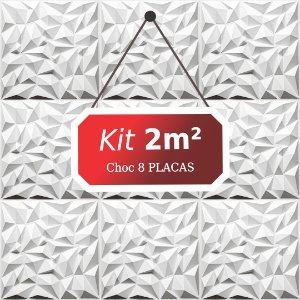 Kit 2m²  Revestimento 3D Choc