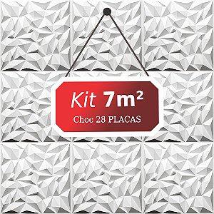 Kit 7m²  Revestimento 3D Choc