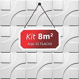 Kit 8m²  Revestimento 3D Argo