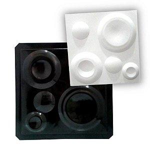 Forma ABS Black 2mm Gesso/Cimento - Lunar 38,5 x 38,5