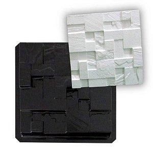 Forma ABS Black 2mm Gesso/Cimento - São Thomé 38,5 X 38,5