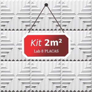 Kit 2m²  Revestimento 3D Lab