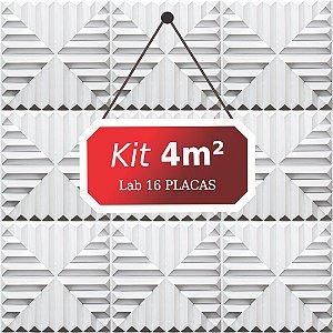 Kit 4m²  Revestimento 3D Lab