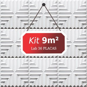 Kit 9m²  Revestimento 3D Lab