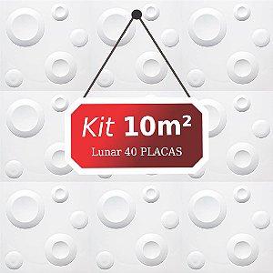 Kit 10m²  Revestimento 3D Lunar