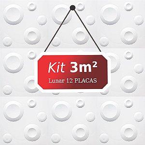 Kit 3m² Revestimento 3D Lunar