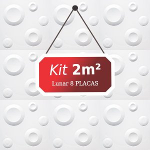 Kit 2m²  Revestimento 3D Lunar