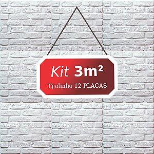Kit 3m² Revestimento 3D Tijolinho