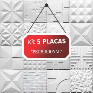Kit 5 placas Revestimento 3D Tijolinho encaixe