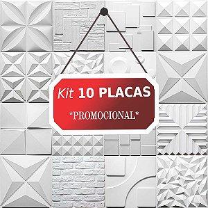 Kit 10 placas Revestimento 3D Tijolinho encaixe