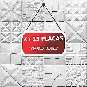 Kit 25 placas Revestimento 3D Tijolinho encaixe