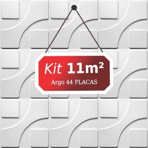 Kit 11m²  Revestimento 3D Argo