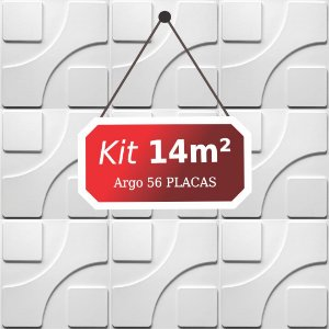 Kit 14m²  Revestimento 3D Argo