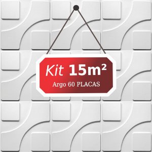 Kit 15m²  Revestimento 3D Argo