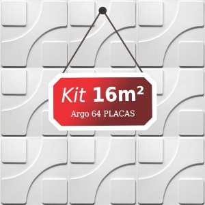 Kit 16m²  Revestimento 3D Argo