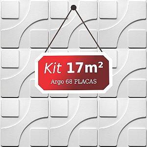 Kit 17m²  Revestimento 3D Argo