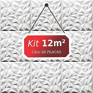 Kit 12m²  Revestimento 3D Choc