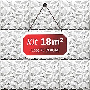 Kit 18m²  Revestimento 3D Choc