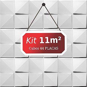 Kit 11m²  Revestimento 3D Cubos