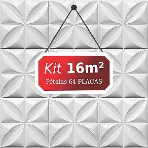 Kit 16m² Placas de Revestimento 3D Pétalas