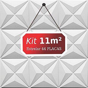 Kit 11m²  Revestimento 3D Estrelar