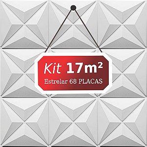 Kit 17m²  Revestimento 3D Estrelar