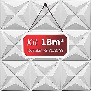 Kit 18m²  Revestimento 3D Estrelar