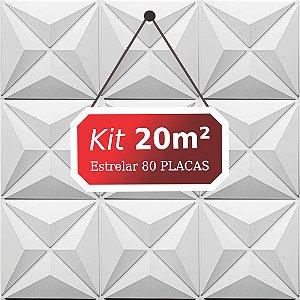 Kit 20m²  Revestimento 3D Estrelar