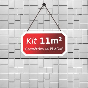 Kit 11m²  Revestimento 3D Geométrico