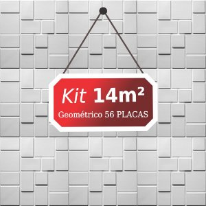 Kit 14m²  Revestimento 3D Geométrico