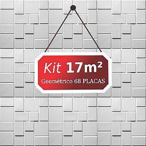 Kit 17m²  Revestimento 3D Geométrico
