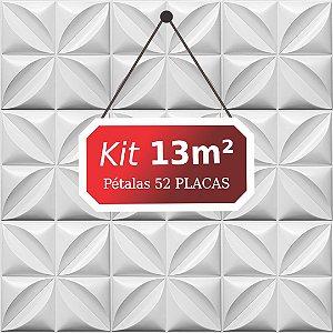 Kit 13m² Placas de Revestimento 3D Pétalas