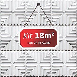 Kit 18m²  Revestimento 3D Lab
