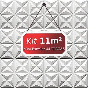 Kit 11m²  Revestimento 3D Mini estrelar