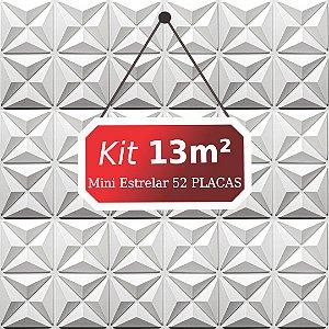 Kit 13m²  Revestimento 3D Mini estrelar