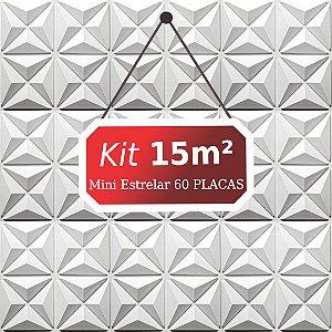 Kit 15m²  Revestimento 3D Mini estrelar