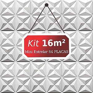 Kit 16m²  Revestimento 3D Mini estrelar