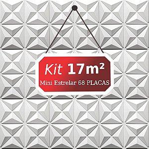 Kit 17m²  Revestimento 3D Mini estrelar