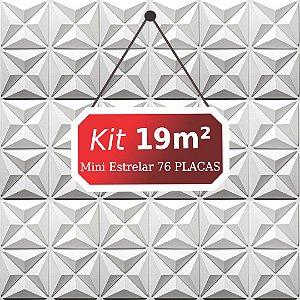 Kit 19m²  Revestimento 3D Mini estrelar