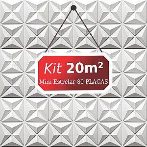 Kit 20m²  Revestimento 3D Mini estrelar