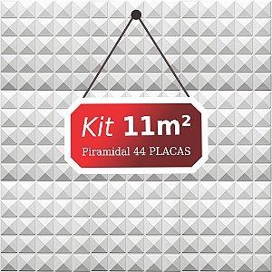 Kit 11m²  Revestimento 3D Piramidal