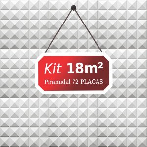 Kit 18m²  Revestimento 3D Piramidal