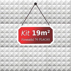Kit 19m²  Revestimento 3D Piramidal