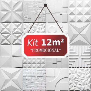 Kit 12m² Revestimento 3D Rustico