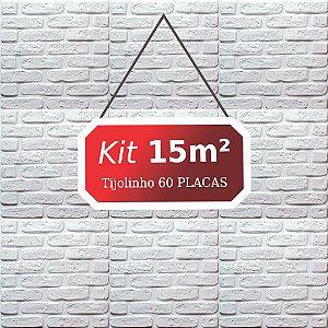 Kit 15m² Revestimento 3D Tijolinho
