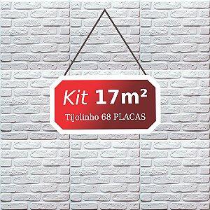 Kit 17m² Revestimento 3D Tijolinho