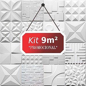 Kit 9m² Revestimento 3D Rustico